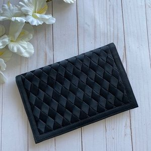 VINTAGE Black Satin Clutch